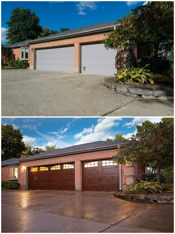 Garage Door Update Increases Curb Appeal And Home Value #remodelaholic
