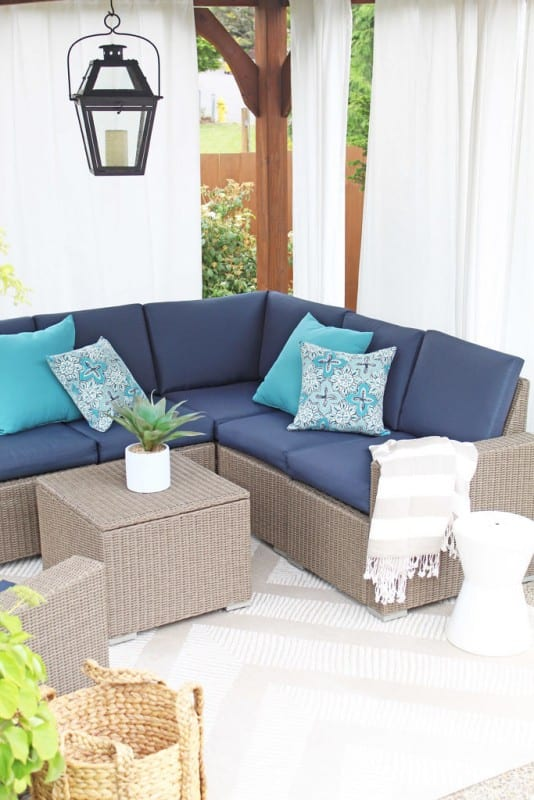 Pf Summer Patio Makeover A Nod To Navy