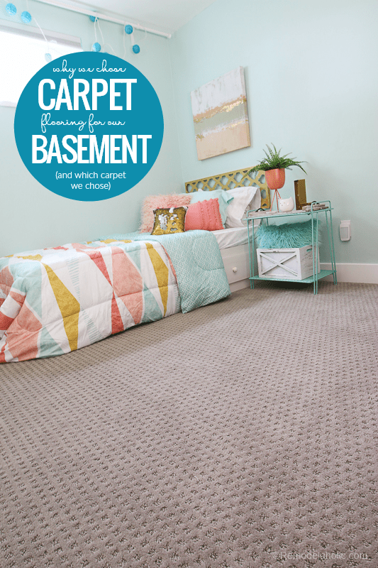 Why We Chose SHAW Carpet Flooring For Our Basement And Which Luxe Textured Carpet We Chose #remodelaholic