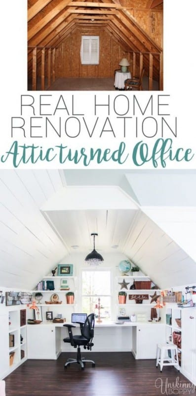 Attic Turned Office Renovation 508x1024