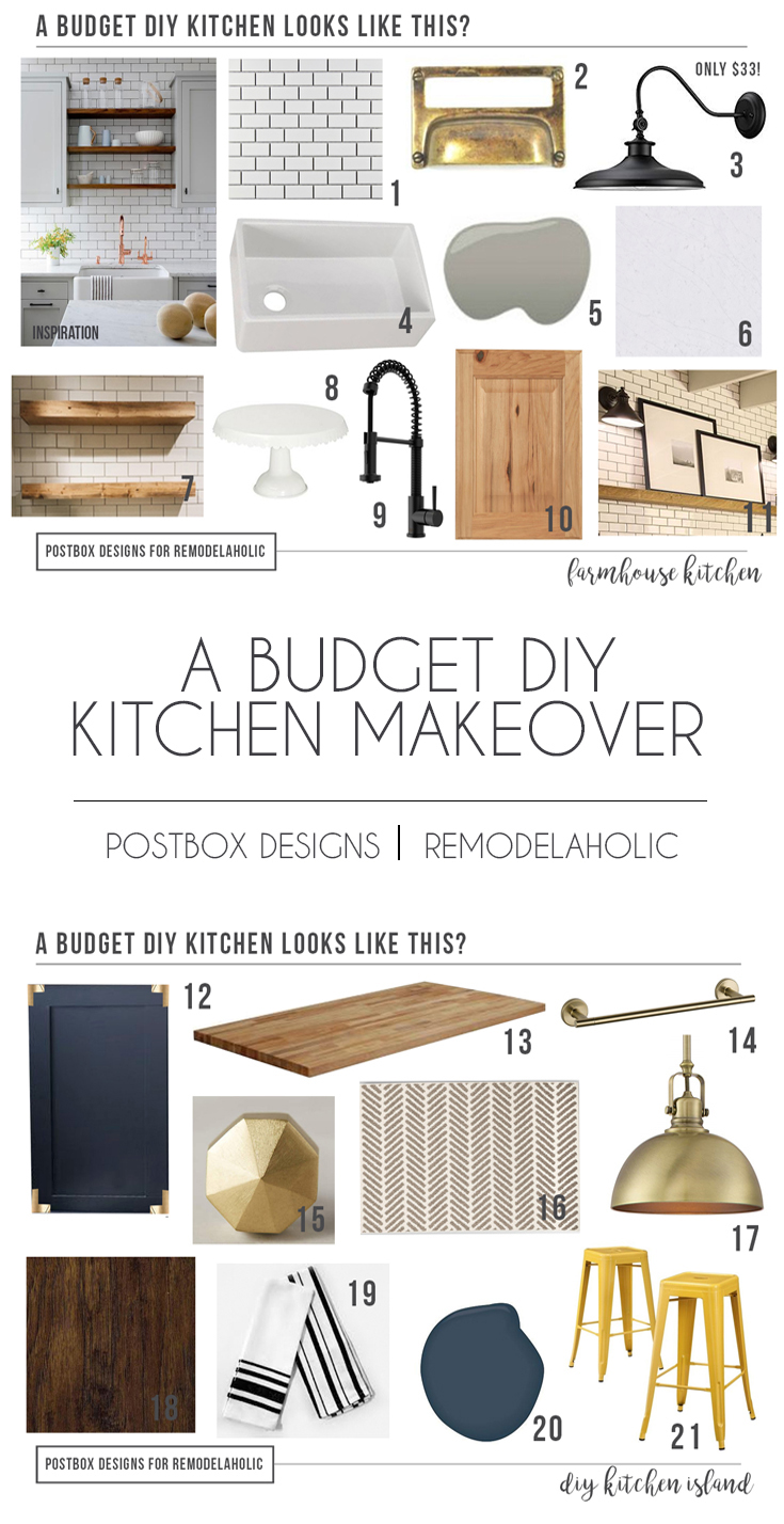 Remodelaholic How To Design A Budget Kitchen Island Farmhouse Style