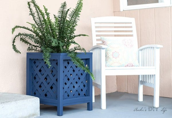 How To Make Lattice Planter Box Anikas DIY Life 700 12