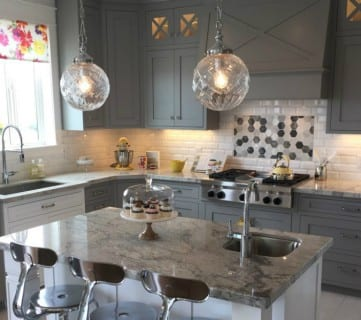 Remodelaholic Get This Look Glamorous Gray Kitchen Feature Image