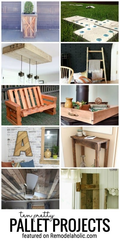 Use Up Pallets Or Reclaimed Wood With One Of These Ten Pretty Pallet Projects Featured On Remodelaholic.com