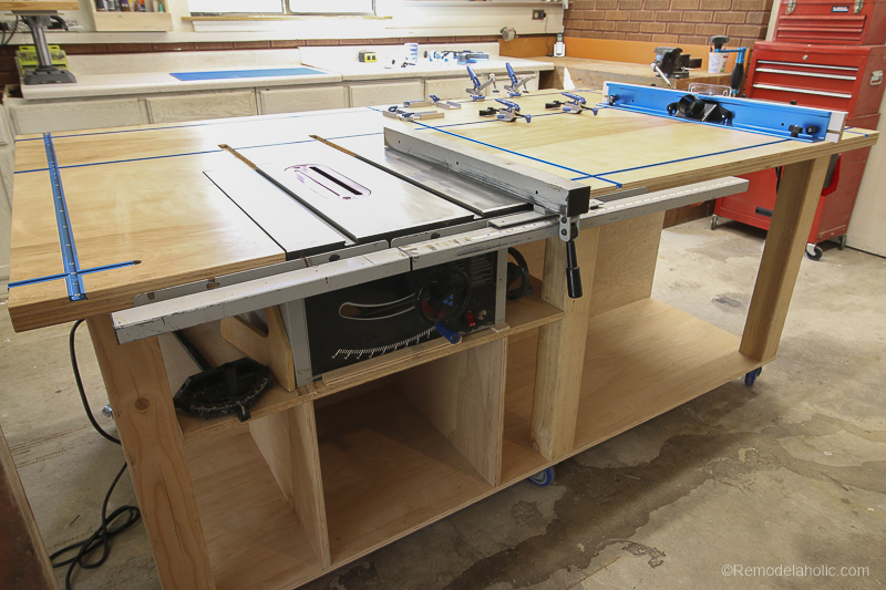 Remodelaholic Table Saw Workbench Building Plans With Rockler T