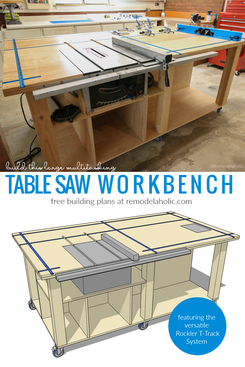 Remodelaholic Table Saw Workbench Building Plans With
