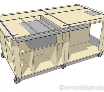 Table Saw Workbench Plans @remodelaholic 3