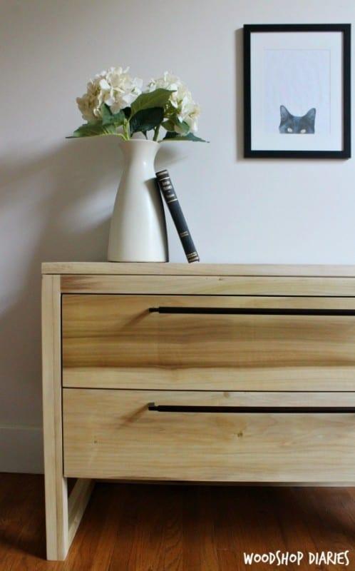 DIY Modern Nightstand Left Side