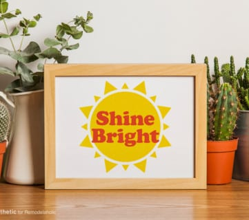Free Sunshine Printable: Shine Bright