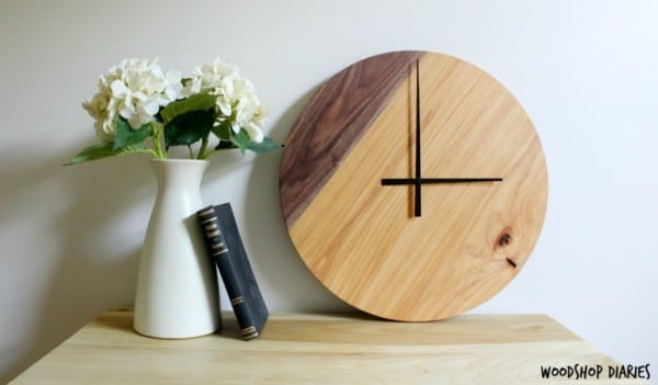 How To Make A Two Tone Wooden Wall Clock