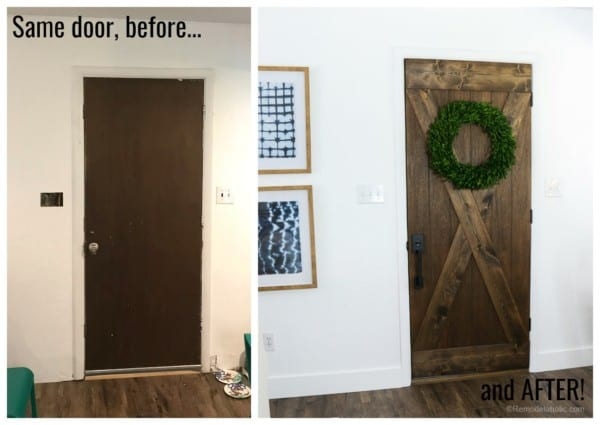 Same Door Before And After Makeover For $25 @remodelaholic