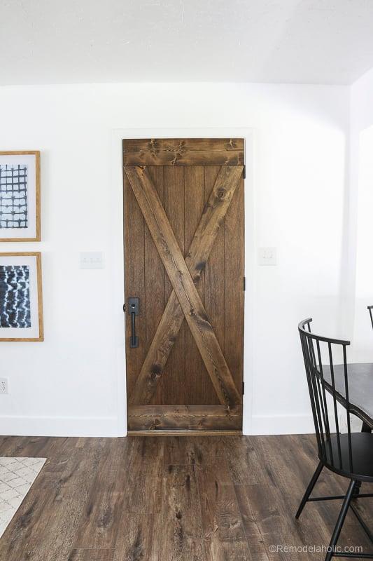 Barn Door From An Old Solid Core Door Makeover @Remodelaholic 62