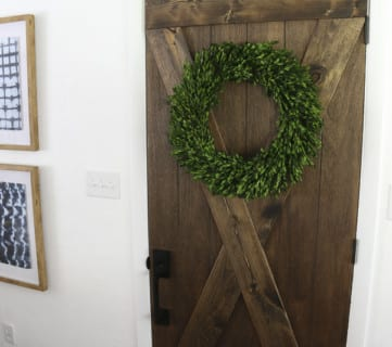 Barn Door From An Old Solid Core Door Makeover @Remodelaholic 66