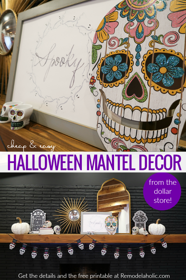 Dollar Store Halloween Decor Hacks With A Dollar Tree Haul And Free Halloween Printable #remodelaholic