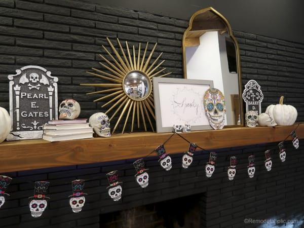 Dollar Store Halloween Hacks And Mantel Decor @Remodelaholic 64