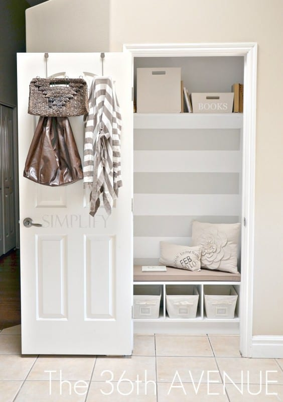1 Entry Closet Remodel By The 36th Avenue Featured On @Remodelaholic 564x800