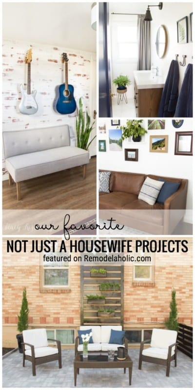 A Dreamy Brick Wall, Gallery Walls, Modern Bathroom And More. Our Favorite Not Just A Housewife Projects Featured On Remodelaholic.com