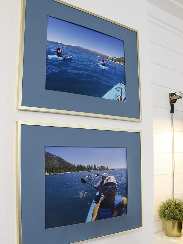 DIY Large Wall Decor Idea: Paint Photo Mats in Inexpensive Large Frames