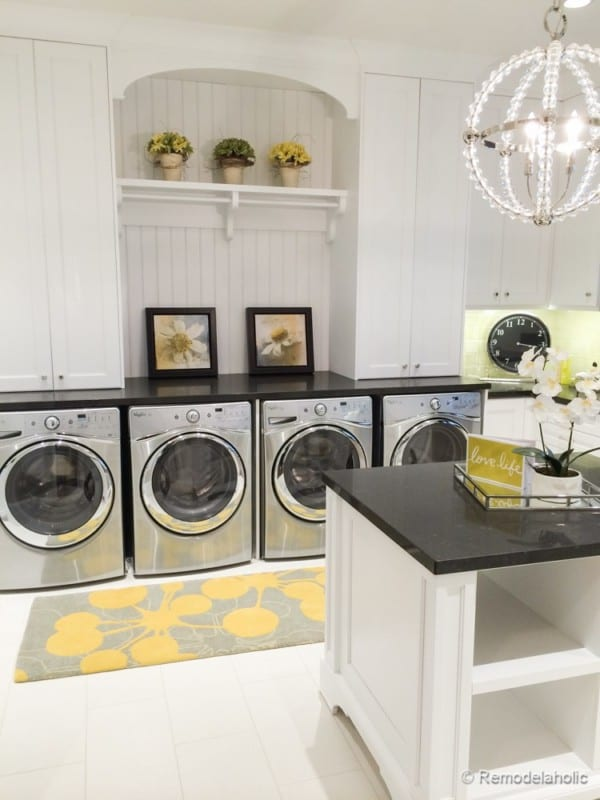 Double Laundry Room With Folding Island Fabulous Laundry Room Design Ideas From @Remodelaholic 100 Of 103