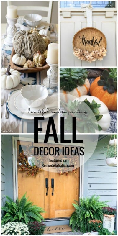 It's Time For A Festive Fall Friday Favorites! Check Out These Beautiful And Inspiring Fall Decor Ideas Featured On Remodelaholic.com