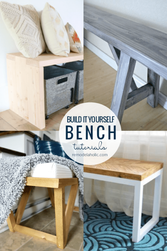 Beginner Friendly DIY Bench Tutorials And Building Plans #remodelaholic