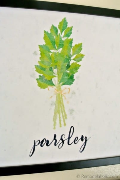 Free Parsley Kitchen Herb Printable Set Of 4 Watercolor Herb Art Prints Digital Download #remodelaholic