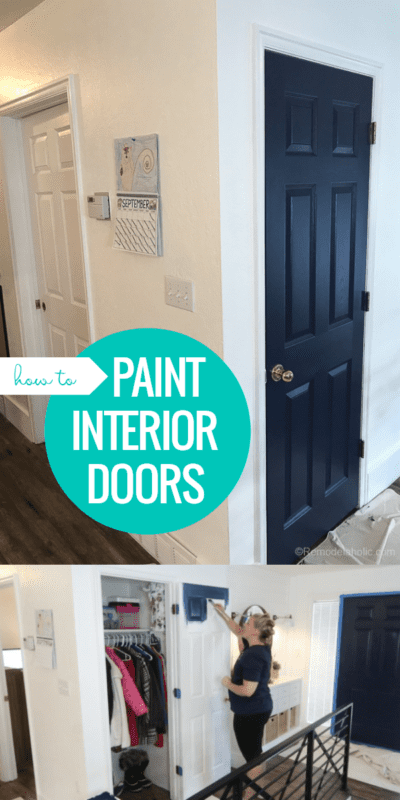 How To Paint Interior Doors With A Faux Wood Grain Finish And Raised Panels #remodelaholic