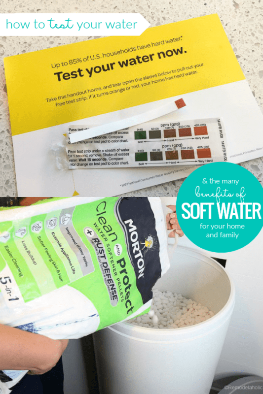 How To Test Your Water Hardness And The Benefits Of A Water Softener For Your Home And Family #remodelaholic