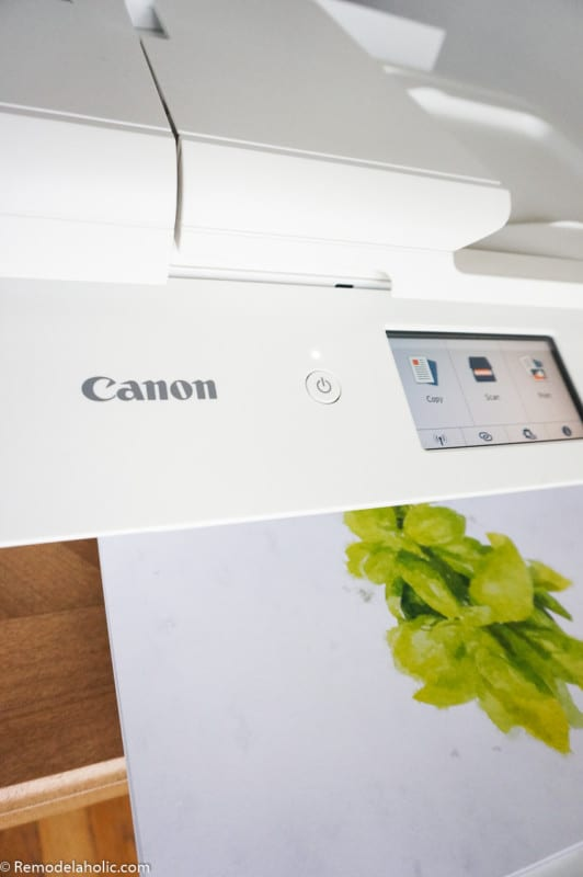 Printing Watercolor Herb Kitchen Art Set On Canon PIXMA TS9521C Crafting Printer #remodelaholic