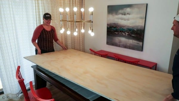 Hack A Bigger Dining Table For Thanksgiving Under $50 @Remodelaholic 4