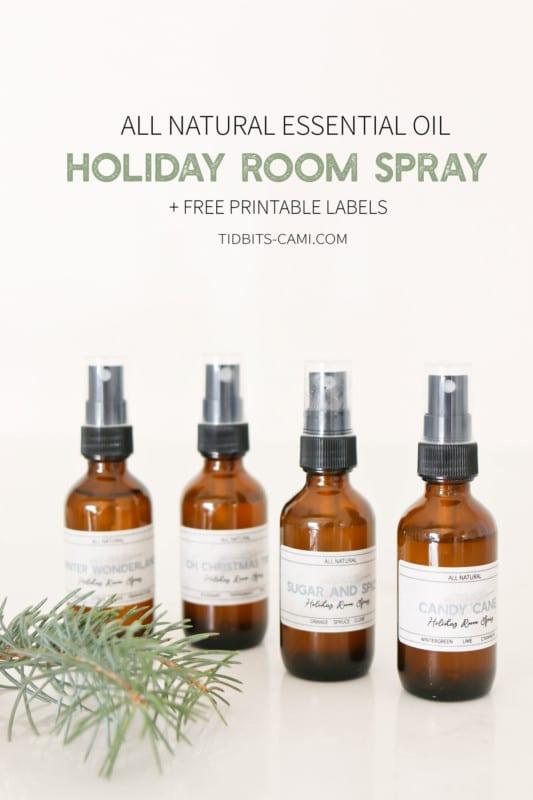 Natural Holiday Room Spray TIDBITS