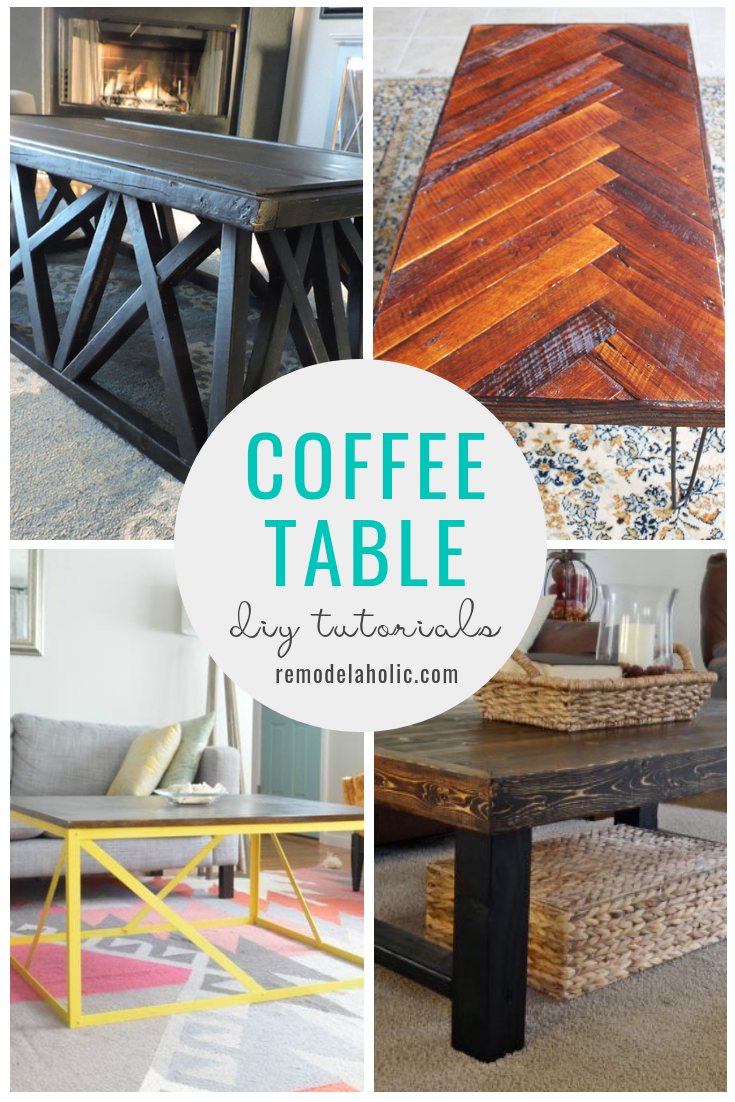 DIY Coffee Table Tutorials | Build your own modern farmhouse coffee table with these DIY tutorials #remodelaholic #reclaimedwood #modernfarmhouse