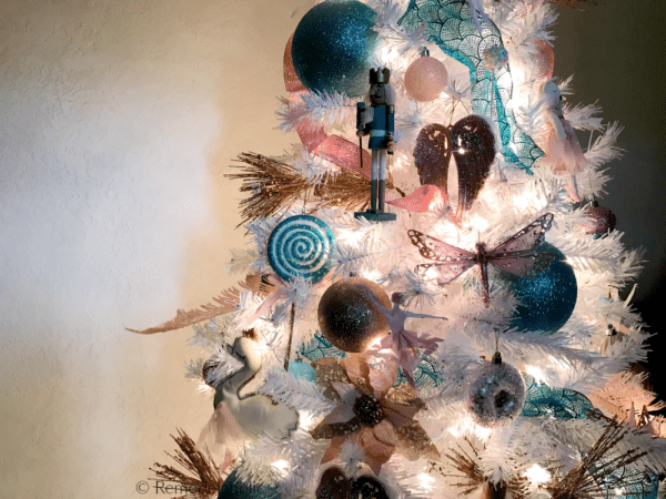 Remodelaholic Blue Pink And Gold Nutcracker Christmas Tree Decorating Tutorial