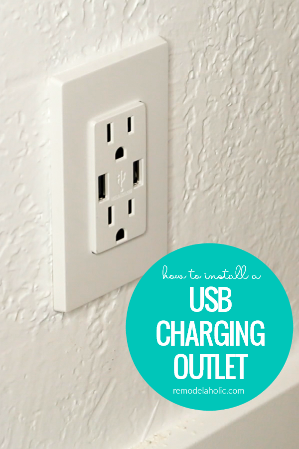 How To Install A Duplex USB Charging Outlet And Update An Old Outlet #remodelaholic