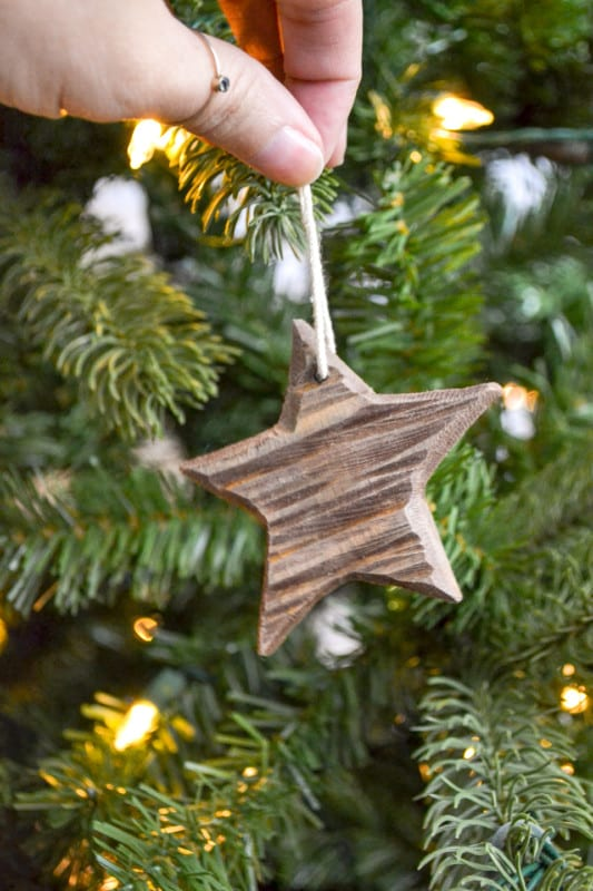 Sarah Ugly Duckling House Diy Rustic Carved Wood Christmas Ornament Star