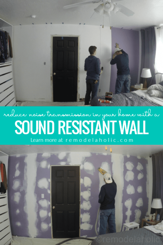 Soundproof A Wall And Reduce Noise Transmission By Installing A Retrofitted Sound Resistant Wall Over Existing Drywall #remodelaholic