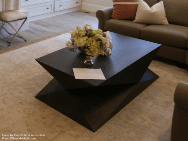 Dark Wood Faceted Coffee Table Jerry Stubbs And Tique And Co 2018 Utah Valley Parade Of Homes Featured On Remodelaholic