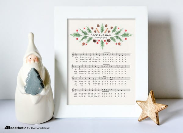 Free Chritmas Printable Deck The Hall Holiday Sheet Music