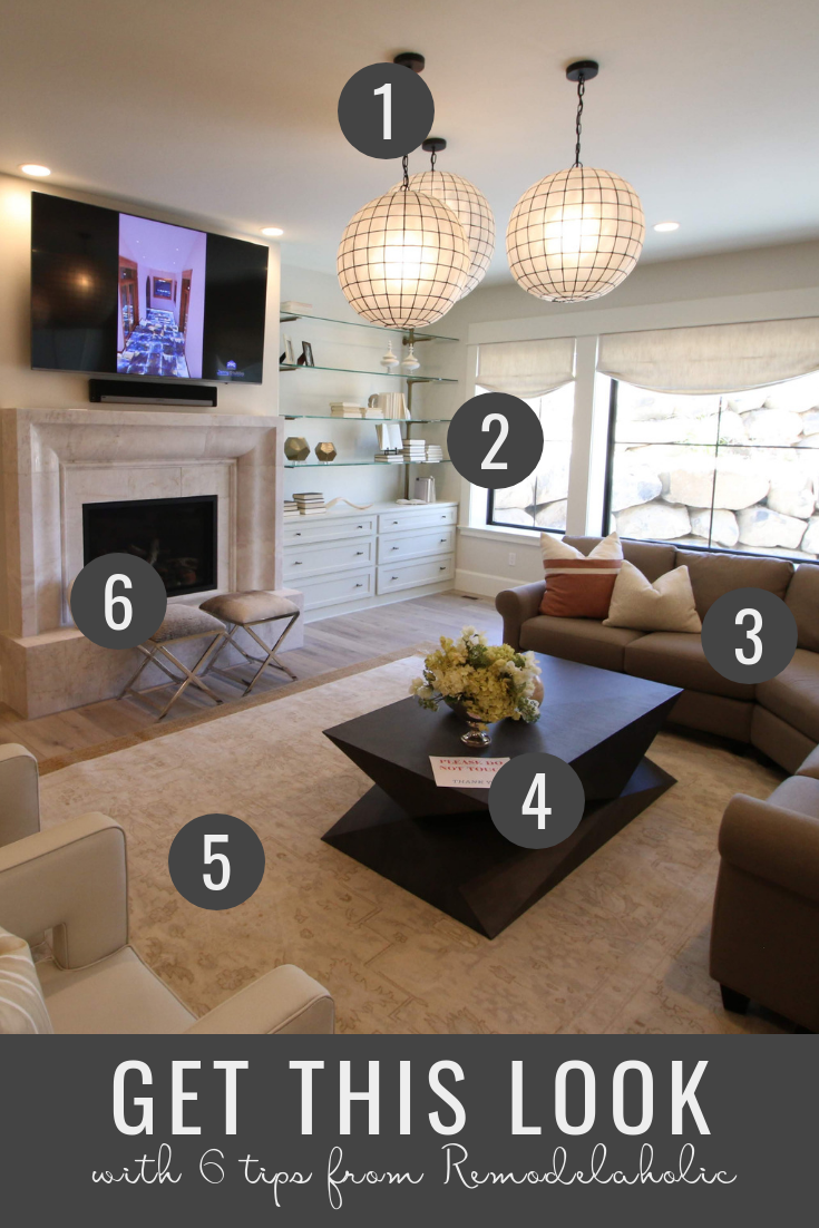 Remodelaholic Get This Look Modern Transitional Living Room