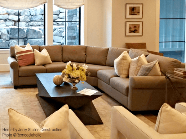 Traditional Sectional In A Neutral Color For Modern Transitional Home, Jerry Stubbs Construction, Tique & Company Design, 2018 Utah Valley Parade Of Homes Featured On Remodelaholic