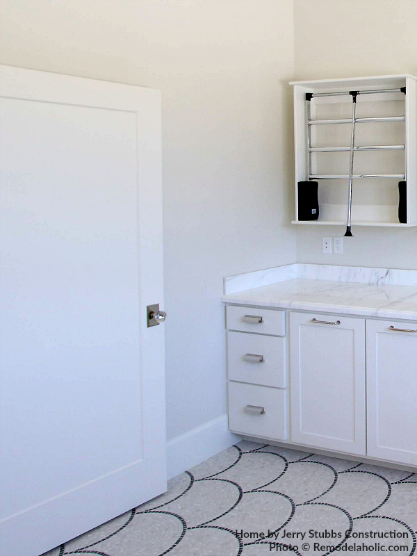 Two Tone White Paint In Laundry Room, Jerry Stubbs Construction And Tique And Company, 2018 Utah Valley Parade Of Homes Featured On Remodelaholic