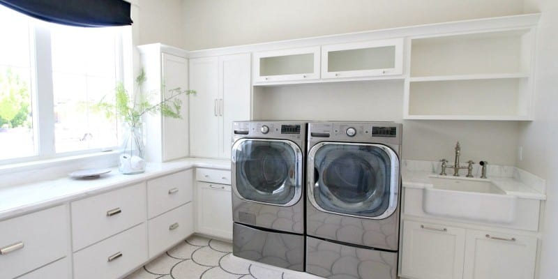 Get This Look: Modern Transitional Style Laundry Room