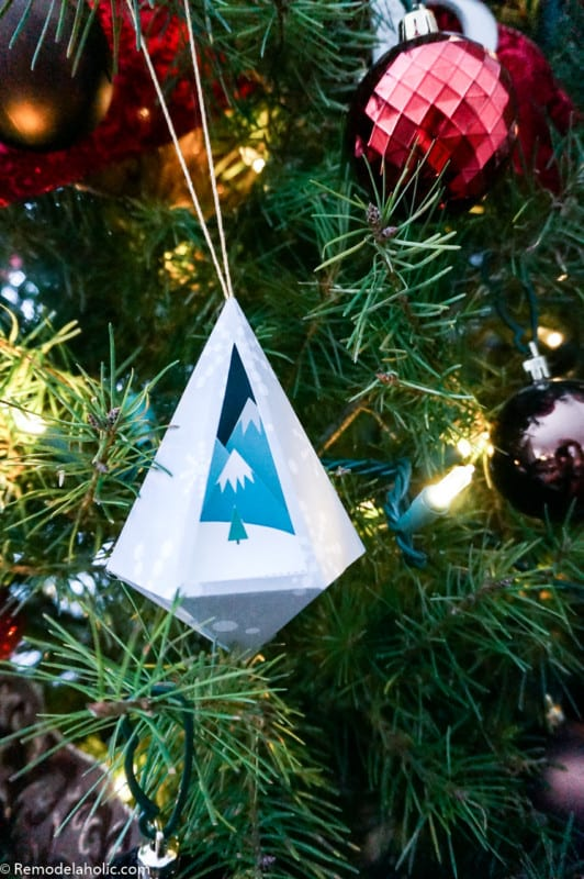 3D Paper Ornament Templates | Winter Snow Globe Scenes, 3D baubles, and folded paper gems