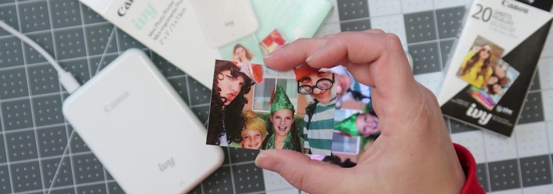 Printable Kids Travel Journal Photo Book + Canon IVY Mini Photo Printer