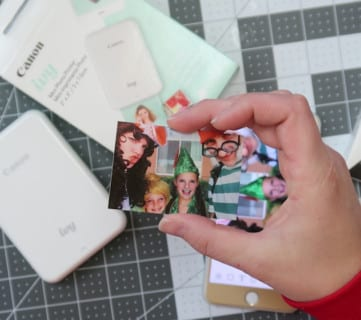 Easy Portable On-The-Go Photo Printing For Travel Albums With The Canon IVY Mini Photo Printer #remodelaholic