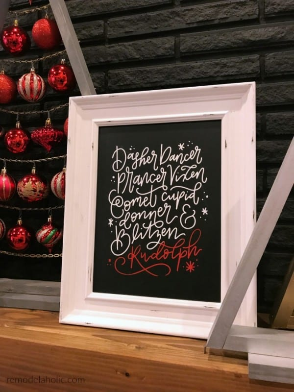 Make Your Own DIY Chalkboard Sign For Christmas Fast And Easy To Reuse For Every Holiday #remodelaholic
