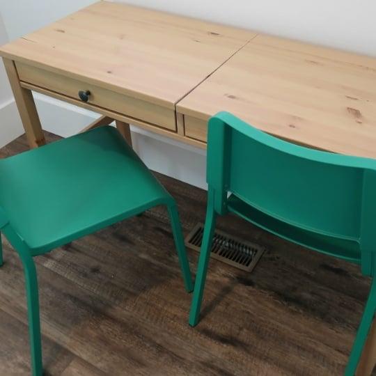DIY IKEA Hemnes Desk Hack Into Double Duty Shared Kids Desk With Hidden Storage