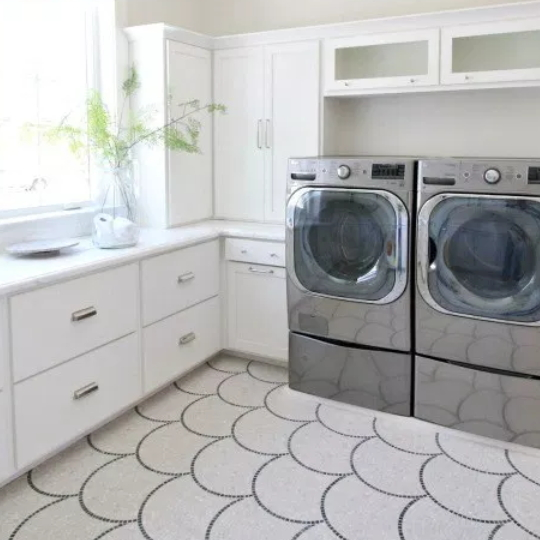 Get This Look Modern Transitional Style Laundry Room