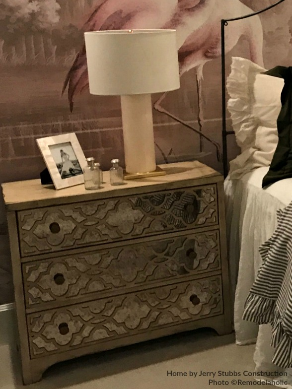 Modern Transitional Style Girls Bedroom With Mirrored Dresser Nightstand And Modern Lamp Jerry Stubbs And Tique And Co 2018 Utah Valley Parade Of Homes Featured On Remodel