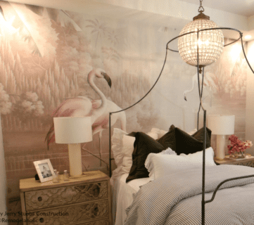 Teen Girls Bedroom With Flamingo Wallpaper Mural Jerry Stubbs And Tique And Co 2018 Utah Valley Parade Of Homes Featured On Remodelaholic